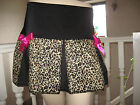 NEW Black Brown Pink Animal pleated skirt Roller Derby Dance Party Goth Rock