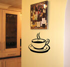 SCA ART KITCHEN WALL COFFEE TEA CUP VINYL STICKER DECAL