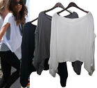 st149 Celebrity sty  soft silky OVERSIZE layering top