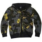 New One Industries TRANSIT Zip Hoodie Sweatshirt Black Grey Mens MX ATV SALE