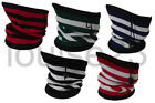 W13 FUNKY FOOTBALL BAR STRIPE NECKWARMER WINTER WARM FLEECE SNOOD 3in1 SKI HAT
