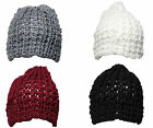 W57 MENS RETRO SOFT KNITTED DESIGNER OVERSIZE SLOUCH BAGGY BEANIE SKI HAT 3cols