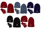W74 FOOTBALL TEAM WINTER SLOUCH CHUNKY BEANIE HAT & GLOVE SET GIFT IDEA  6 TEAMS