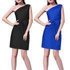 Ruched Stretch Jersey One shoulder Short Formal Cocktail Party Dress co7208