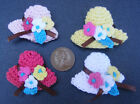 1:12 Scale Floral Crochet Hats Dolls House Miniature Clothing Accessory