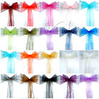 120PCS Organza Chair Sashes Bow Wedding Cover Banquet