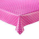 PINK DINKY POLKA DOT VINYL WIPE CLEAN TABLECLOTH NEW
