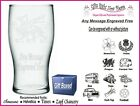 Engraved Tulip Pint Glass Personalised  Wedding Thank You  Gift Present IM1
