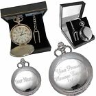 Engraved Pocket Watch Usher-Best Man-Dad- Page Boy Gift Gold or Silver TT3