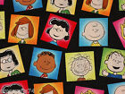 HAPPPINESS IS PEANUTS COTTON FABRIC BY HALF YARD WITH FREE SHIPPING to USA