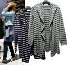 g45 CELEBRITY style Soft Hooded pin stripe open style cardigan