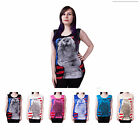 E29 LADIES SEXY RUDE NAKED WOMENS DESIGN KISS ME SOFTLY SLEEVELESS VEST TOP 8-14