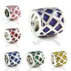 Wholesale Lot 10pcs Silver Enamel European Spacer Charm Beads For Bracelet