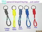 Set of 2 Paracord micro FOB lanyard key ring keys remote control knife mobile