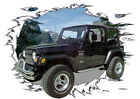 2000 Black Jeep 4X4 Custom Hot Rod Mountain T-Shirt 00, Muscle Car Tee's