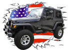 2002 Black Jeep 4X4 Custom Hot Rod USAT T-Shirt 02, Muscle Car Tee's