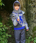 NEW TRAVIS BLUE CRUSADER KNIGHT SWORD FANCY DRESS OUTFIT BOYS 3-5/ 6-8/ 9-11 YRS