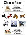 30 Horse / Horses Personalized Address Labels