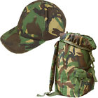 Kids Boys Army Camo Outfit Baseball Cap & Rucksack Fancy Dress Costume Soldier