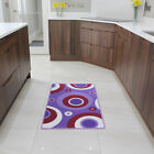 Purple Circles Bright Funky Non Slip Machine Washable Kitchen Durable Cheap Mats