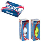 MD GOLF SEVE ICON GOLF BALL SET - 1 DOZEN (12 BALLS) - WHITE / YELLOW TOUR NEW