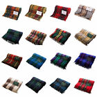 Highland 100% Wool Blankets/Rugs in Traditional Tartans