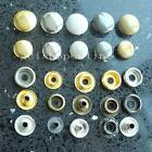 "100 PCS Leather Rapid Rivet Button Snaps Fasteners 12mm 15mm 1/2"" 5/8"" Sew Color"