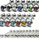 Crystal Gem Tragus Cartilage Upper Ear Piercing Stud Top Earring 16ga 1.2mm