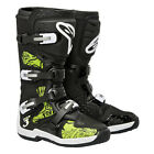 New Alpinestars Tech 3 Mx Dirtbike Offroad Boots Black / Green Swirls All Sizes