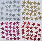 STICKER GLITTER STARS self adhesive a Kids Birthday DIY Party Fun Craft