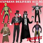 ADULT MENS SKELETON HALLOWEEN SKULL BONES OUTFIT SMIFFYS FANCY DRESS COSTUMES