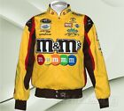 KYLE BUSCH M&M 100% Cotton Twill Nascar Racing Jacket Officially Licensed