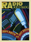 Radio Valves Exhibition Exposition Art Deco Fashion Vintage Poster Repo FREE S/H