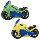 LESSER AND PAVEY CERAMIC MOTORCYCLE MONEY BOX IN RED, GREEN & YELLOW LP19761