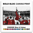 England 1966 World Cup   Canvas Art Print Box Framed Picture Wall Hanging BBD