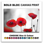 Poppy Field Flowers FLORAL  Canvas Art Print Box Framed Picture Wall Hanging BBD