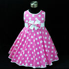 Babies Girl Pink Christmas Wedding Girls Party Dresses SIZE 2,3,4,5,6Y,7,8,9,10Y