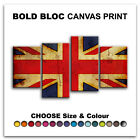Abstract Union Jack FLAGS  Canvas Art Print Box Framed Picture Wall Hanging BBD