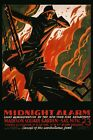 Firefighter Fireman New York Vintage Poster Alarm Madison Square Repro FREE S/H
