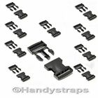 10 x Black 25 mm Plastic Side Release Buckles for webbing