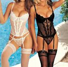 Shirley of Hollywood Padded Push Up Bustier With G-String Style 9407