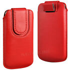 PREMIUM PU LEATHER PULL FLIP TAB CASE COVER POUCH WITH STRAP FOR MOTOROLA PHONES