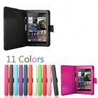 Premium Leather Smart Cover Case Folio 4 Google Nexus 7 Sleep Wake Card Holder