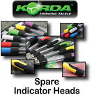 Korda *SPARE STOW INDICATOR HEADS* in 6 Colours for Carp Fishing Coarse Fishing