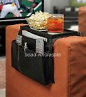 New Brown Sofa Arm Magazine/Remote Control/Cup Holder with Table Top Organizer