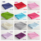 Solid Color King/Queen/Double Fitted Sheet Flat Sheet Bed Pillowcases 100%Cotton