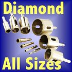 DIAMOND HOLESAW ALL SIZES hole saw tile ceramic porcelain marble drill dust