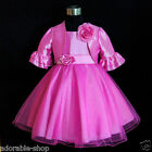 HP668 Hot Pink Easter Bridal Flower Girls Dress + Cardigan SET SZ 2,4,6,8,10,12Y