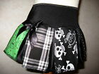 New Girls Black white green Mixed skulls tartan spots spiders Skirt party goth