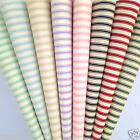 "PER HALF METRE/ FQ Ivory striped fabrics 100% cotton poplin  44"" WIDE"